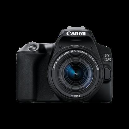 صورة كاميرا  كانون EOS 250D مع عدسة 18-55 ملم