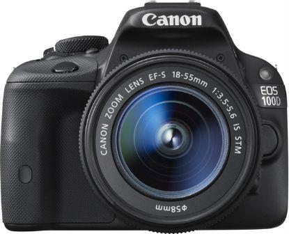 صورة كاميرا كانون EOS 100D مع عدسة 18- 55 ملم